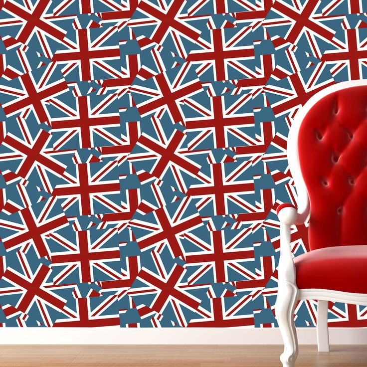 Union jack wallpaper decorating