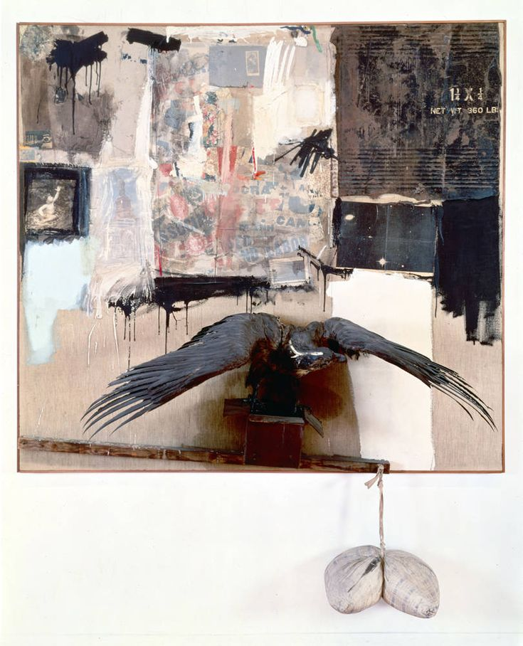 Robert Rauschenberg (American, 1925-2008) - Canyon, 1959. Combine painting. 220.3 x 177.8 x 61 cm (86 3/4 x 70 x 24 in.)