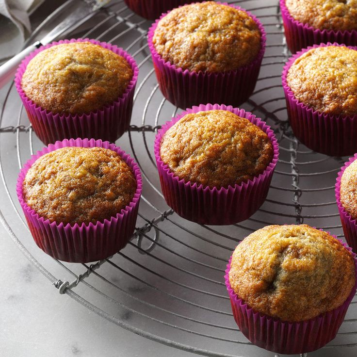 Basic Banana Muffins Recipe -These muffins go over well with kids. Not only are the treats loaded with bananas, but they're ready, start to finish, in just half an hour! —Lorna Greene, Harrington, Maine