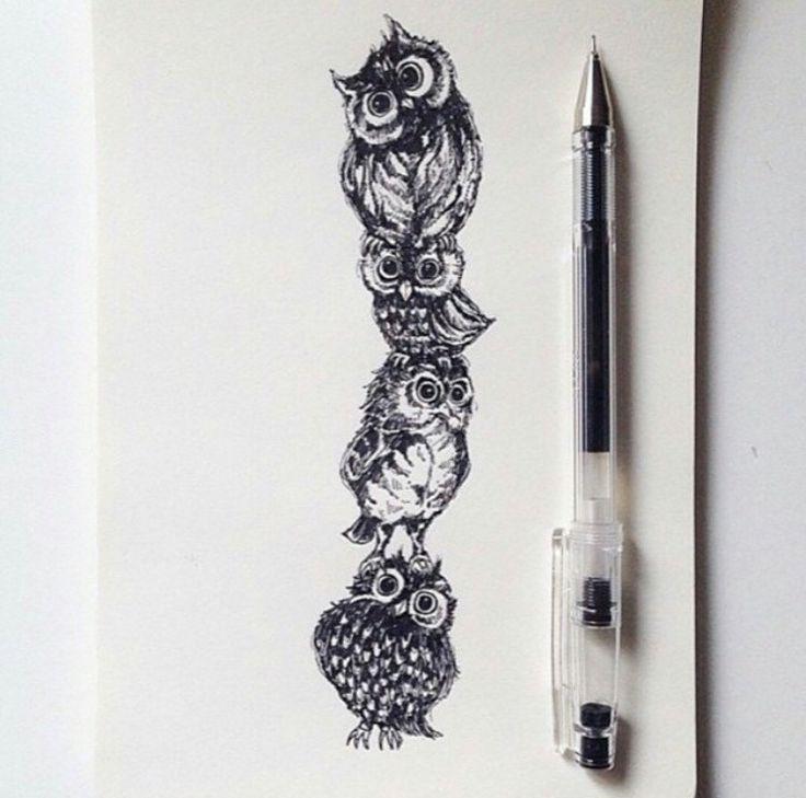 #adorable #drawing #owl #cute #tattooidea #tattoo