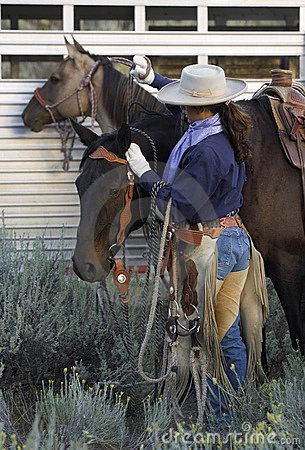 ♥ Cowgirl and Horses by Wendy Kaveney, via Dreamstime