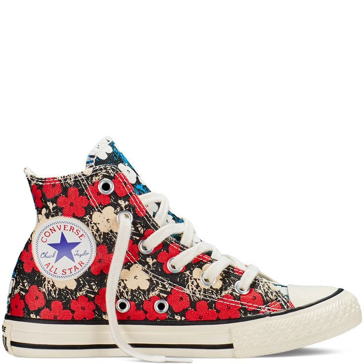 Converse Chuck Taylor All Star Andy Warhol Floral High-Top in Brake Light
