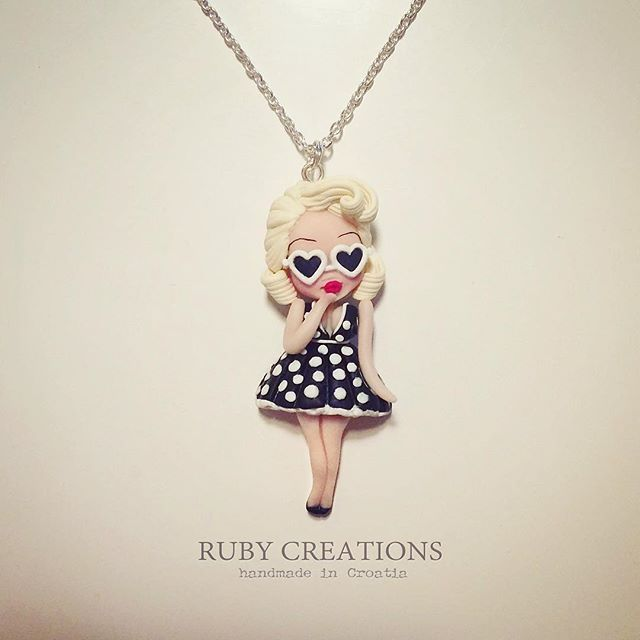 Retro summer collection, pin up girl necklace #retro #vintage #style #girl…