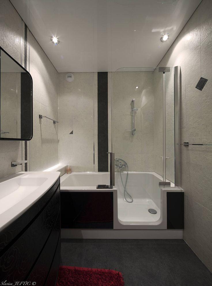 baignoire et douche 2 en 1 salle de bains de style par. Black Bedroom Furniture Sets. Home Design Ideas