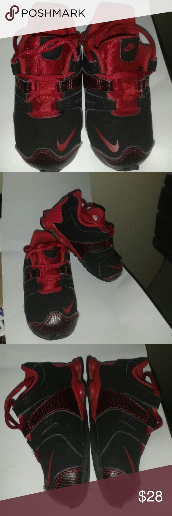 Toddler Nike Shocks Great condition red and black shocks 7C. Nike Shoes Sneakers