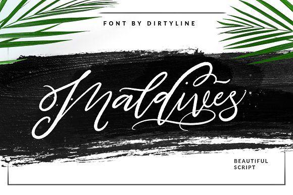 Maldives Script 45% OFF by Dirtyline Studio on @creativemarket
