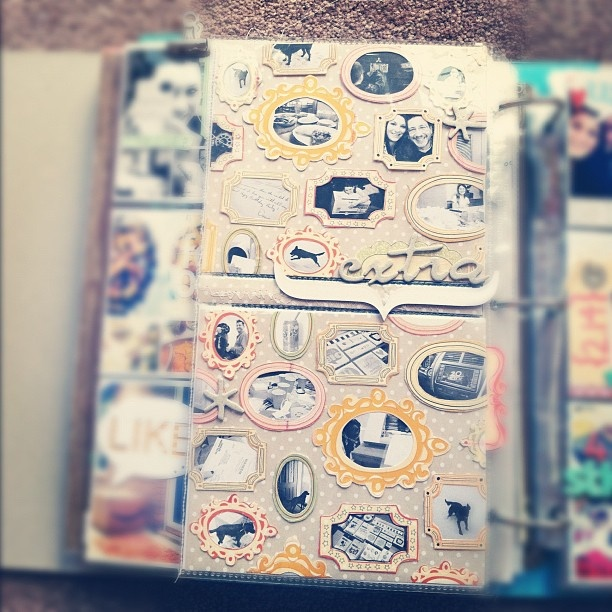 Tiny framed photos. #scrapbook #layout #tiny #photography #frames