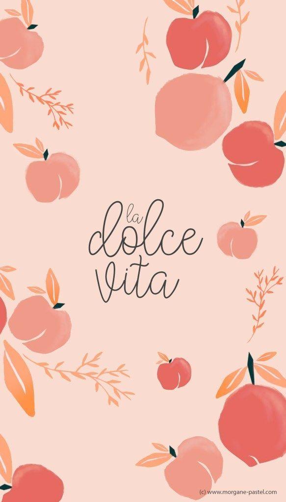 Fond D Ecran Dolce Vita Septembre 2019 Morgane Pastel Blog Lifestyle Mode Deco Bordeaux In 2020 Peach Wallpaper Peach Art Cute Patterns Wallpaper