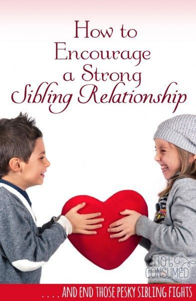 """Can you really help your children build strong relationships with their siblings? In the days of """"he pushed me"""" and """"she touched my chair"""" the idea of a sibling bond seems ludicrous. But it's not! These tips will help you keep your eye on the prize!"""