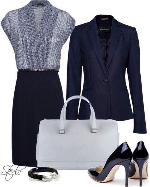 Navy is a great alternative to black, but still just as professional.