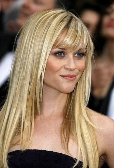 long layers with bangs