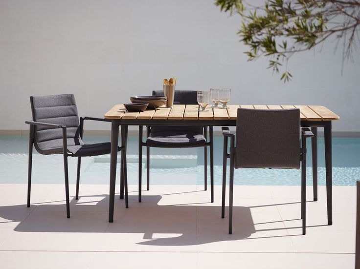Design your own #Outdoor dining area with our amazing new Core #Lounge chairs in our #Comfortable Caneline SoftTouch® fabric with QuickDry® Foam. Combine the lounge chairs with the Beautiful Core Table in #Teak from the #Danishdesigners Foersom & Hiort-Lorenzen. #Caneline #Gardenfurniture #Outdoor