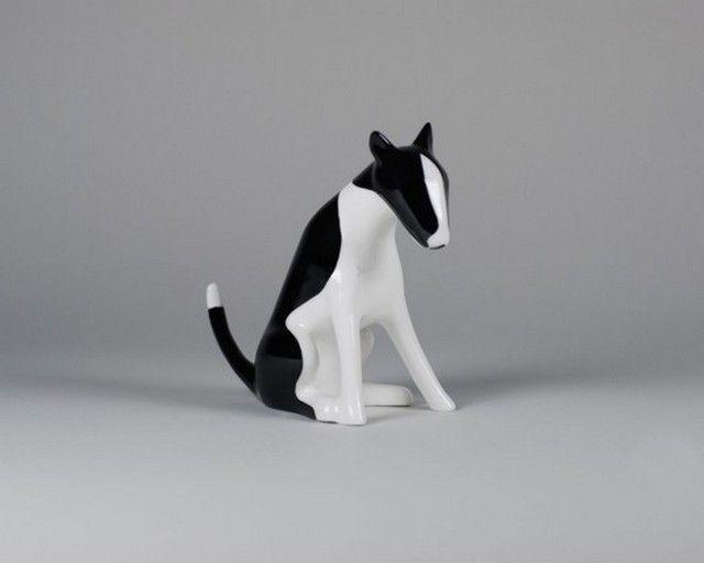 Bulterrier - Porcelana Ćmielów