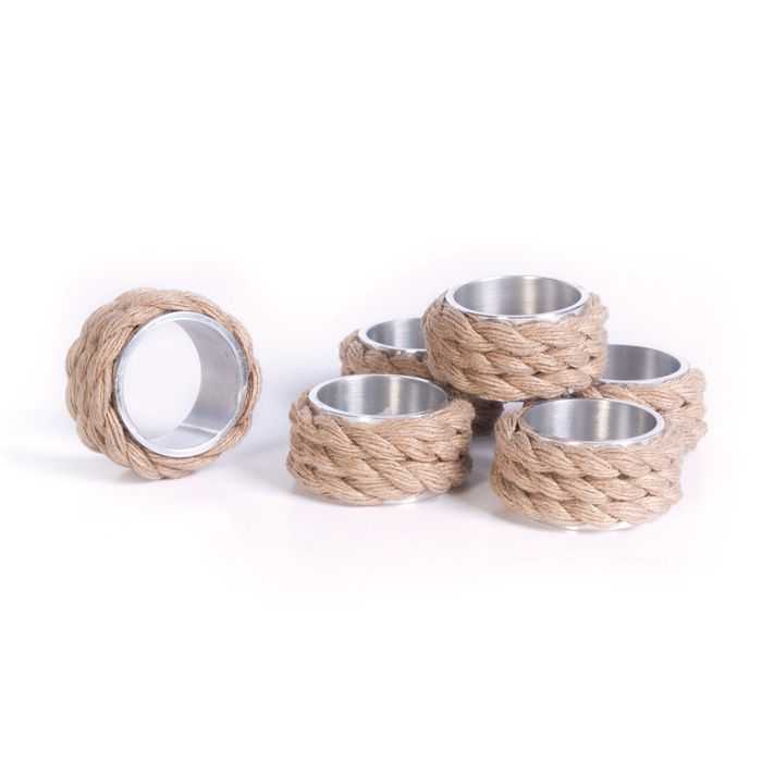 This set of twelve rope napkin rings are perfect for your next beach themed dinner party. The will add right amount of coastal flair to your table setting.
