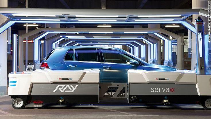 In a hurry? Let a robot valet park your car Düsseldorf