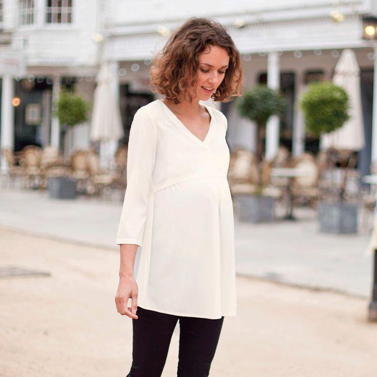 Preciosa blusa color crema Jojo Maman Bébé