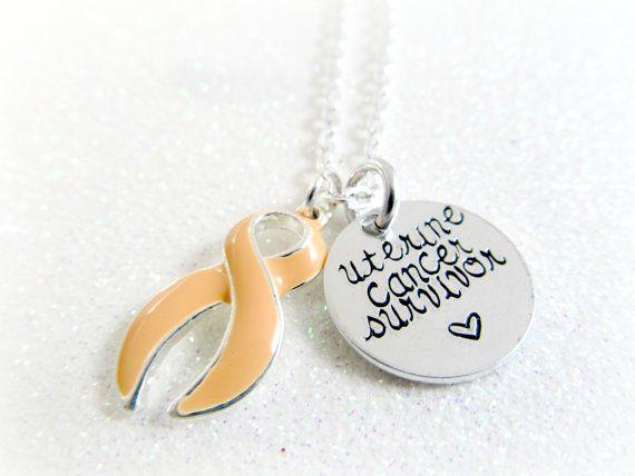 Uterine Cancer Survivor Necklace Uterine Cancer by WYPKeepsakes