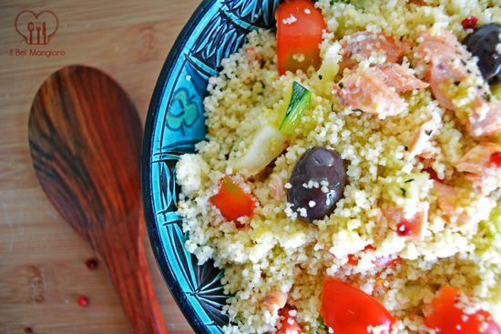 Cous cous al pesce spada e verdure dell'orto