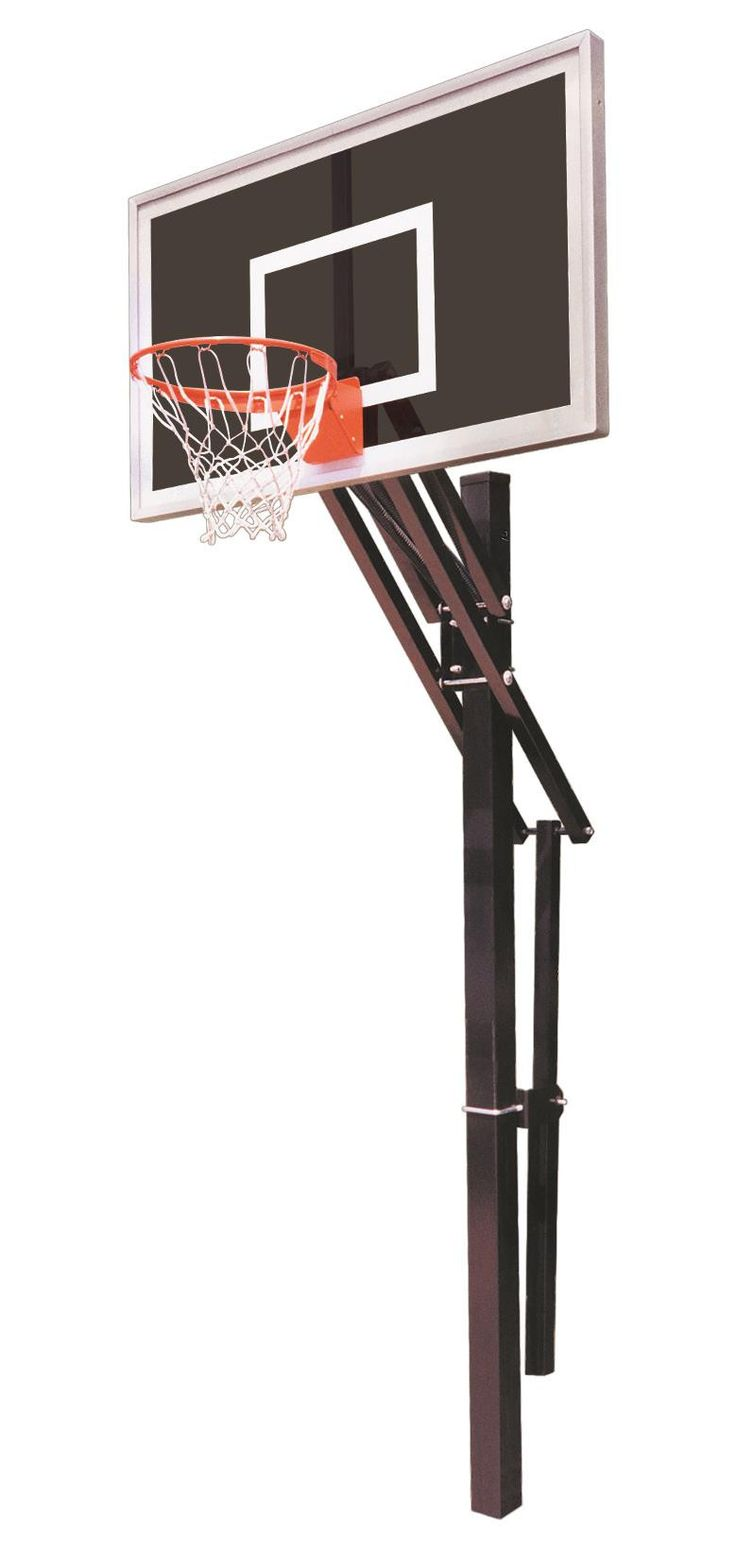 First Team Slam Eclipse In Ground Outdoor Adjustable Basketball Hoop 60 inch Smoked Glass from NJ Swingsets