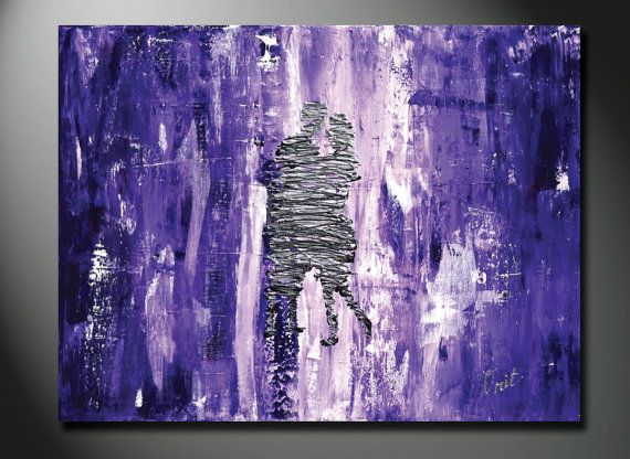 Original Purple Painting, purple art, purple artwork, LARGE purple canvas, 36x24 abstract paintings, couple dancing modern abstract acrylic