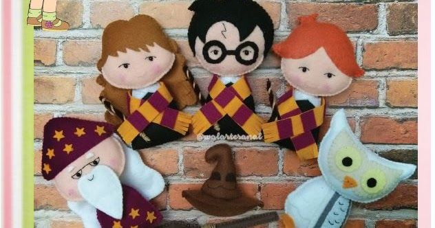 [Lançamento] Molde Artesanal Digital Harry Potter   Personagens: Harry Potter, Hermione, Rony, Dumbledore,    Edwiges, Chapéu Seletor e...