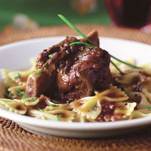 -Braised Short Ribs with Lemon Pasta Recipe on Williams-Sonoma.com