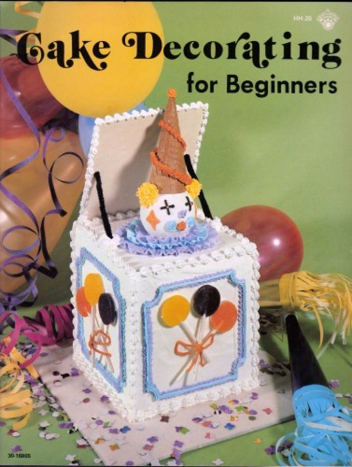 Cake Decorating for Beginners craft tutorial vintage book ...