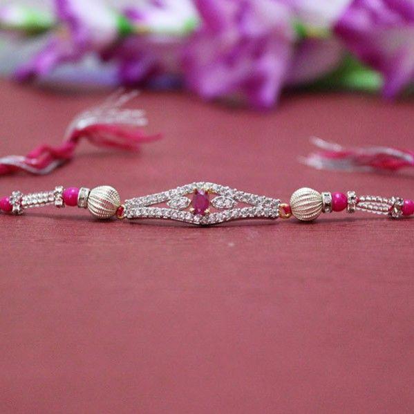#SilverRakhis with Sparkling Shine http://rakhi.giftalove.com/silver-rakhi-735.html