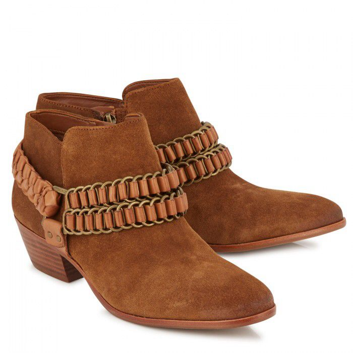 SAM EDELMAN Posey Brushed Suede Ankle Boots | Harvey Nichols