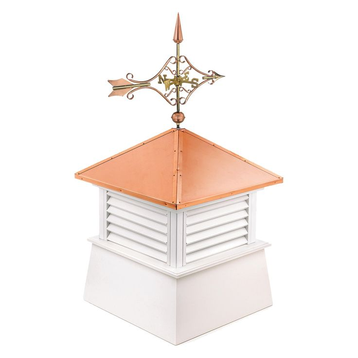 Good Directions Square Manchester Vinyl Cupola with Cottage Victorian Arrow - 2118MV-8842P