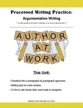 best argument writing middle school ideas  argumentative writing chunked writing practice ideal writer s nb activity