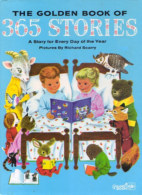 365 Histórias de Encantar (em português). O meu já tem uns bons 30 aninhos, mas ainda leio estas histórias à minha filha mais nova.