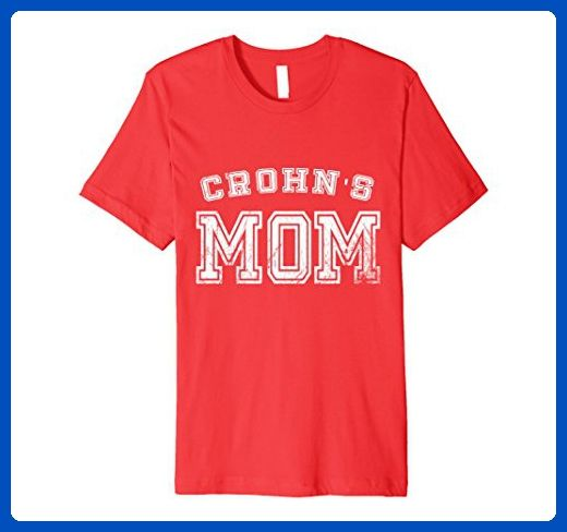 Mens Crohns Disease Mom Awareness T-Shirt Sports Style Mother Medium Red - Relatives and family shirts (*Amazon Partner-Link)