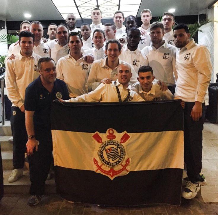 Corinthian Casuals team and Sport Club Corinthians Paulista flag