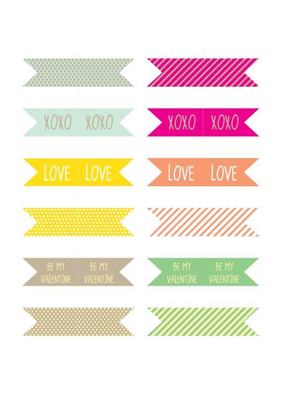 valentine's day pennant banner