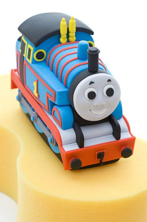 Thomas the tank engine tutorial.                               It's not free but well for buying if you plan on making a Thomas the Tank cake.