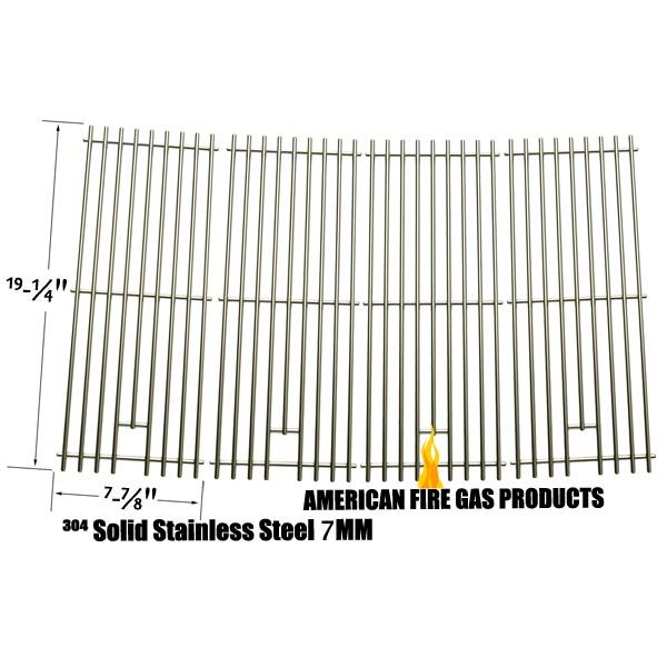 4 PACK REPLACEMENT STAINLESS STEEL COOKING GRATES FOR CAPTN COOK, DUCANE 30400041, DURO 720-0584A AND BBQ GALORE XG4TBWN GAS GRILL MODELS  Fits Captn Cook Models:  XG4CKWNA  BUY NOW @ http://grillpartsgallery.com/shopexd.asp?id=33964&sid=18754
