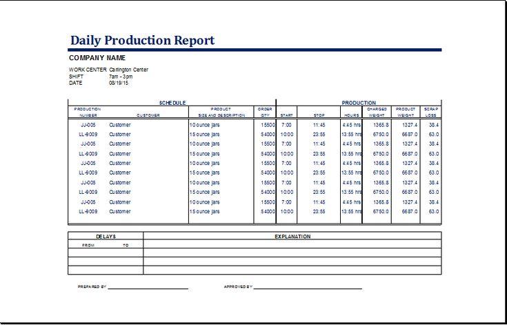 company report samples