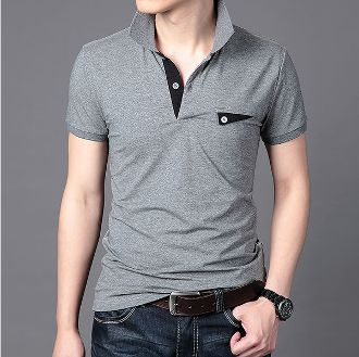Men's Polo Shirt with Front Pocket