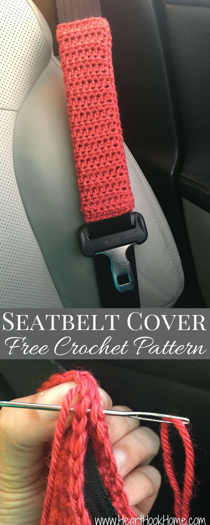 Seatbelt Cover Free Crochet Pattern http://hearthookhome.com/free-crochet-pattern-seatbelt-cover/?utm_campaign=coschedule&utm_source=pinterest&utm_medium=Ashlea%20K%20-%20Heart%2C%20Hook%2C%20Home&utm_content=Seatbelt%20Cover%20Free%20Crochet%20Pattern