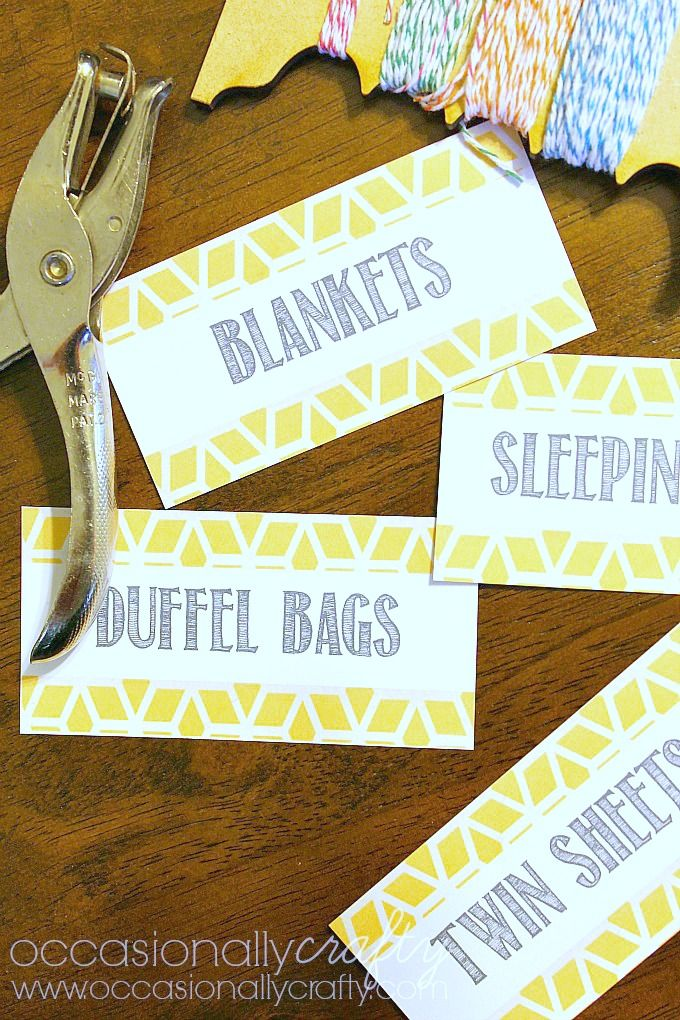 Printable Linen Closet Labels 10 Cleaning and Organizing Resources from Occasionally Crafty