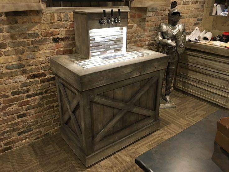 Keezer build imgur keezer pinterest design tile for Home bar with kegerator space