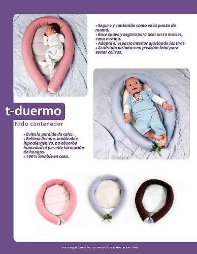 Cojin Nido Almohada Contenedor Para De Bebé Demilamores - $ 399.00