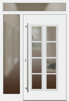 Haustür weiß glas  Die 25+ besten Haustür mit seitenteil Ideen auf Pinterest ...