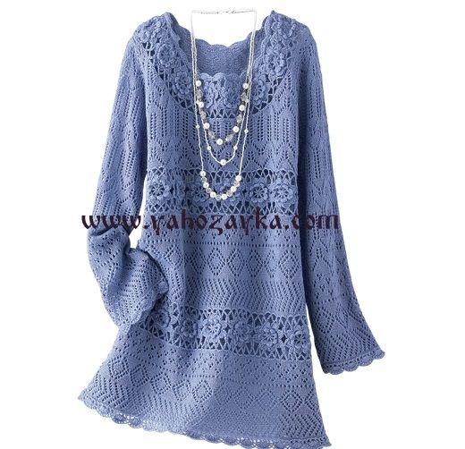 Стильное женское платье спицам и крючком. Вязаные женские летние платья спицам и крючком | Я Хозяйка