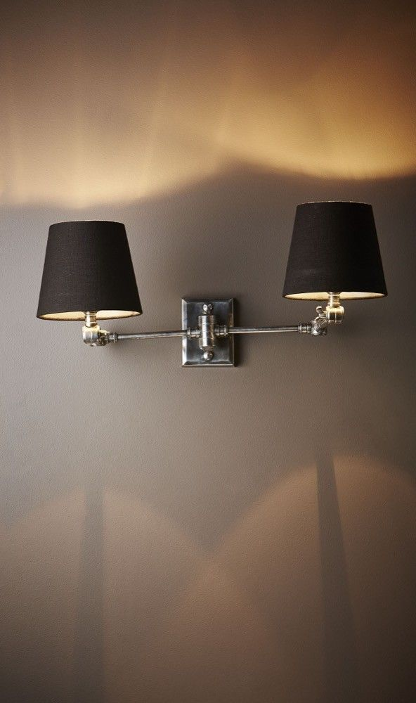 Worcester Wall Lamp In Antique Silver $350
