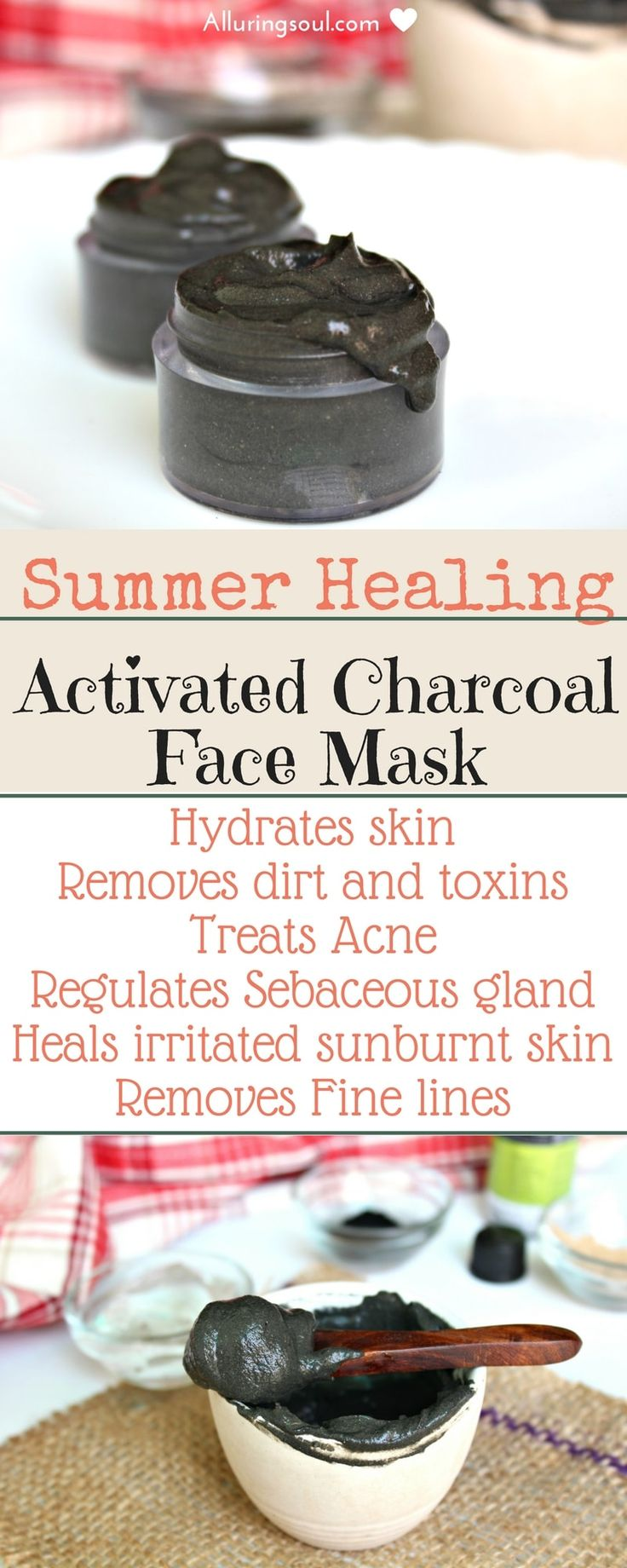 charcoal face mask hydrates skin, removes dirt and unclogs pores and soothes sun irritated skin.