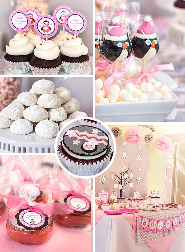 Winter Wonderland Little Penguin Baby Shower Party Ideas | Celebration Lane