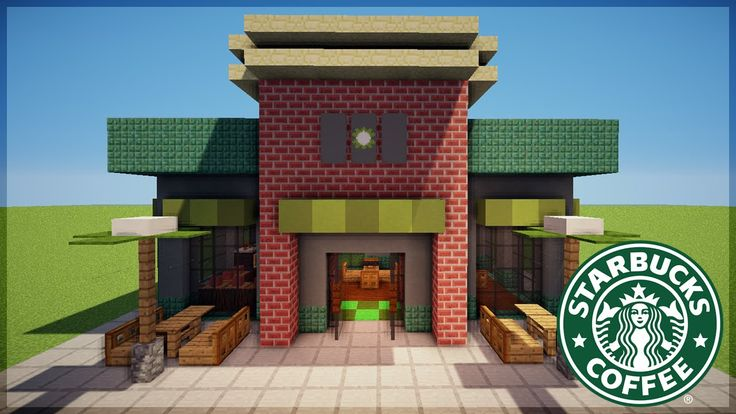 Minecraft Starbucks Design                                                                                                                                                                                 More