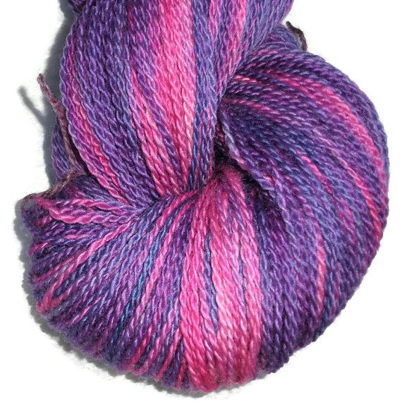 Luxury Hand Dyed Bluefaced Leister Wool Sock Yarn, 2-ply Sweet Roses .